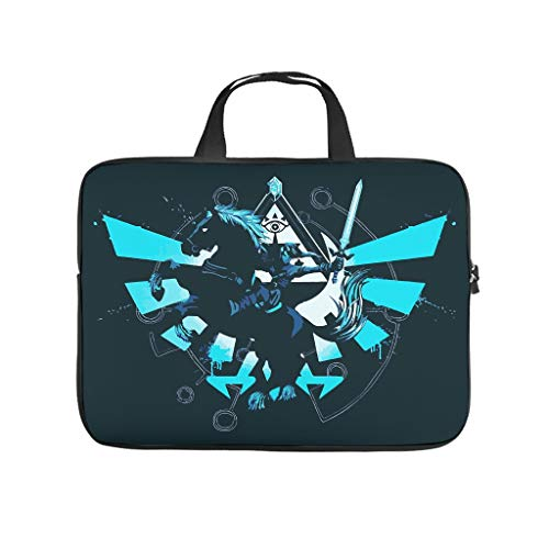 Water-Resistant Zelda Horse Laptop Tote Bag - for Notebook White 10 Zoll