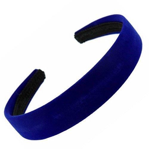 Serre-tête Alice en velours bleu roi 2,5 cm de large