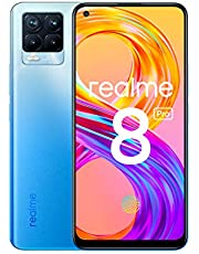 "realme 8 Pro Smartphone, Ultra Quad Camera da 108 MP, Display Super AMOLED da 16,3 cm (6,4""), Ricarica SuperDart da 50W, Grande batteria da 4.500 mAh, Dual Sim, NFC, 8+128GB, Infinite Blue"