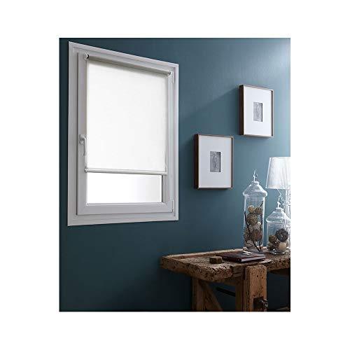 Madecostore Easy Screen Persiana avvolgibile in tessuto monocolore bianco 90 x 185 cm – con o senza fori