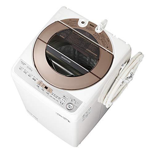 シャープ 洗濯機 穴なし槽 インバーター搭載 ブラウン系 10kg ES-GV10D-T