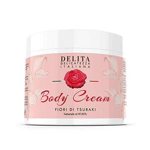 Dulàc - DELITA Body Cream - Crema Corpo Idratante ai Fiori di Tsubaki - idrata, rassoda e leviga la tua pelle - Naturale al 97,95% (500 ml)