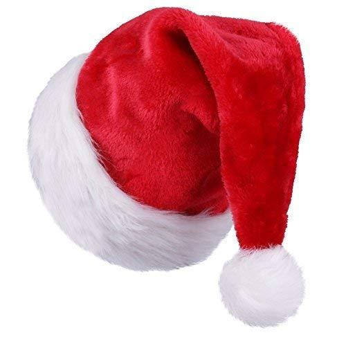 FYL Santa Hat for Kids Child Children Big Santa Hat Comfort Double Liner Plush Red Velvet
