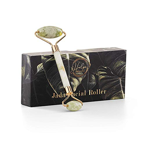 Hulya Beauty - Rullo di giada per il viso - Massaggiatore viso anti-age - Roller viso Premium antirughe, strumento di Bellezza contro occhiaie e gonfiore della pelle
