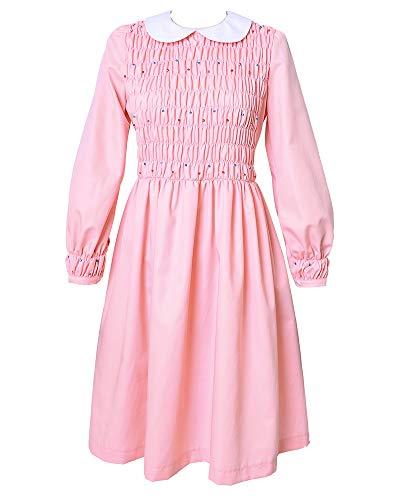 miccostumes Girl's Pink Eleven Cosplay Beading Dress Costume No Socks (3X/4X)