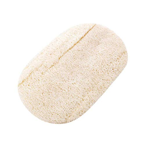 Sunlera Cuadrado/Forma Redonda Natural Loofah Luffa Cepillo de baño de Cocina Lavar Cuerpo de la Olla Cuenco Esponja de Goma