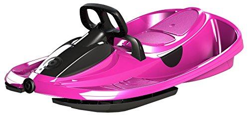 Airjoy Lenkbob Kunststoffrodel Schlitten Snow Champ Deluxe - Pink