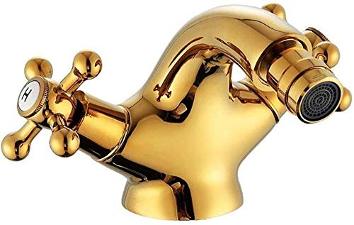 Kraan Tap Verkopen Als Hete Taarten Goud Bidet Kraan Schacht Tap Dubbele Handvat Gouden Basin Bidet Mixer Kraan Antieke Messing Tap Badkamer Kraan