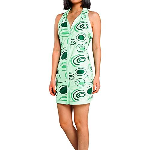 Vestido de verano sin mangas de punto sexy halter cuello casual bodycon mini vestido Y2k corto E niña Streetwear