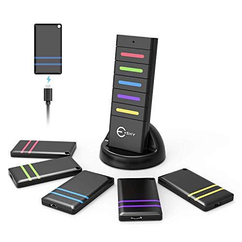 Esky Schlüsselfinder Wireless Key Finder mit 5 wiederaufladbare Empfängern RF Item Locator, Item Tracker Support Fernbedienung, Haustier Tracker, Wallet Tracker