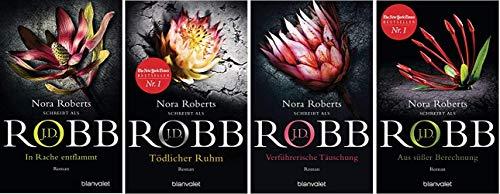 NN. Band 33-36 der J.D. Robb Reihe von Nora Roberts 33. In Rache entflammt & 34. Tödlicher Ruhm & 35. Verführerische Täuschung & 36. Aus süßer Berechnung