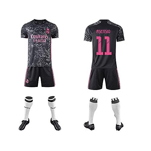 GAOjie Camisetas de fútbol para hombre, camiseta + pantalones cortos + calcetines, camiseta con estampado Rěǎī-Mǎdrid ropa de entrenamiento, uniforme de fútbol para niños y adultos Largo / 1
