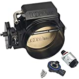 Kyostar 102mm Black Throttle Body + TPS IAC Throttle Position Sensor For LSX LS LS1 LS2 LS7