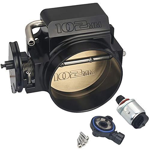 Kyostar 102mm Black Throttle Body + TPS IAC Throttle Position Sensor For LSX LS LS1 LS2 LS7