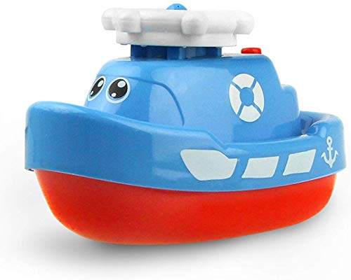 Seckton Toys for Boys 3 Year Old Minus, Bath Toys Floating Squirt Ship Boat Swimming Pool Bathtub Beach Toys for Kids Christmas Birthday Gifts JF-SWJ-Boat Blue