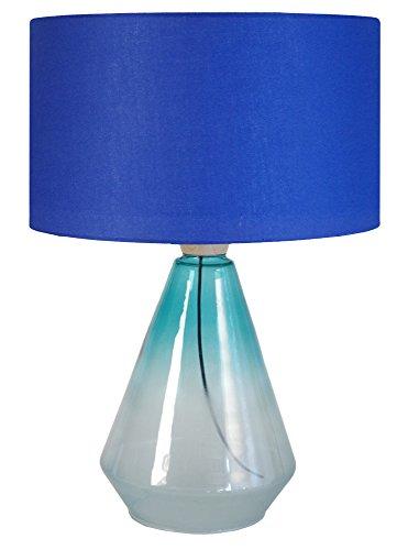 Tosel 64550 Kuopio, Verre Soufflé/Bois/Coton, Transparent/Bleu Turquoise, 350 x 530 mm