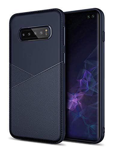 Soft Silicone Case for Galaxy S10 Plus,GREATRULY Flexible Slim Drop Proof Samsung Galaxy S10+ Case,Thin Protective Cellphone Cover Shell,Blue