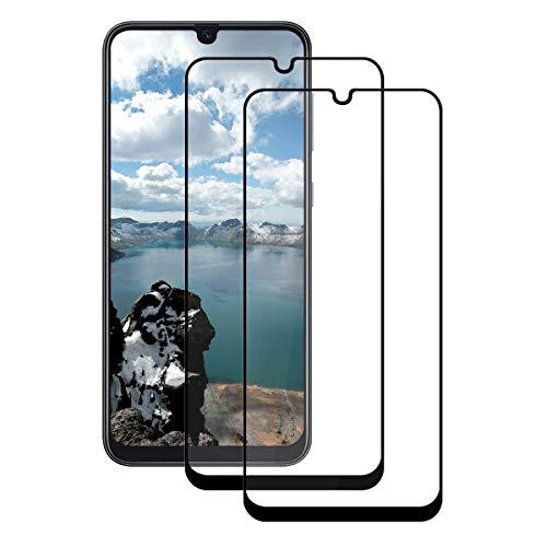 BERYCH 2 Stück Panzerglas für Samsung Galaxy A30/A50/M30, Full Screen Panzerglasfolie 9H Härte, HD Displayschutzfolie, Displayschutzfolie, Anti-Kratzer, Anti-Bläschen, Einfacher Montage