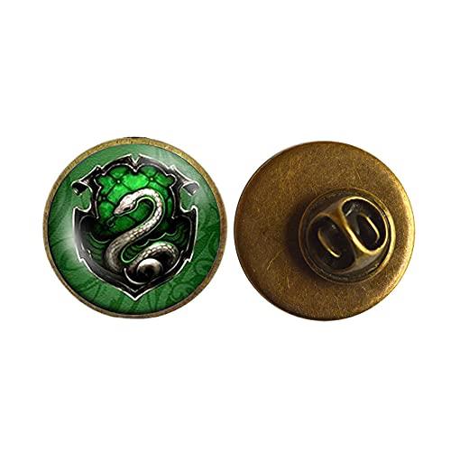 Broche inspirado en la película de las reliquias de la muerte de Steampunk Snake Pin de joyería para mujer Joyería de cristal para hombre, PU193