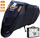 ClawsCover 96.5 Inch XL Motorcycle Cover Waterproof Outdoor 50CC 150CC 250CC Moped Covers All Weather Vespa Dirt Bike Scooter Cover Accessories for Harley Davidson Honda Kawasaki Yamaha and More