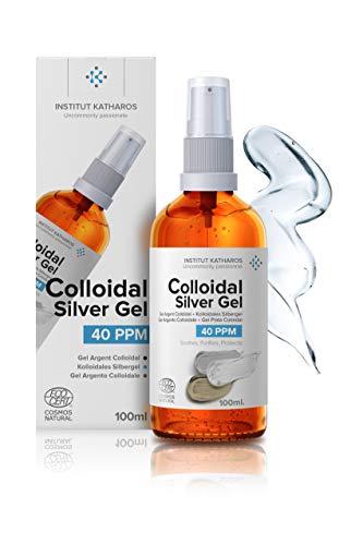 Gel Puro de Plata Coloidal 40 PPM • 100% Natural, con Solo 3 Ingredientes • Textura y Absorción Óptimas (Superior a la de las Cremas) • Vidrio Ámbar y Bomba Superpráctica • Instituto Katharos
