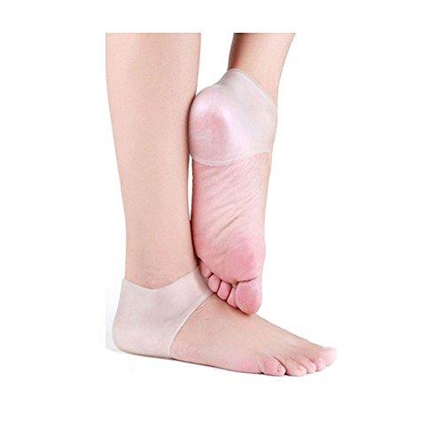 Dr. Pedi talón Protector Manga Unisex silicona Hidratante talón calcetín agrietada piel Dolor relieve Pedicura