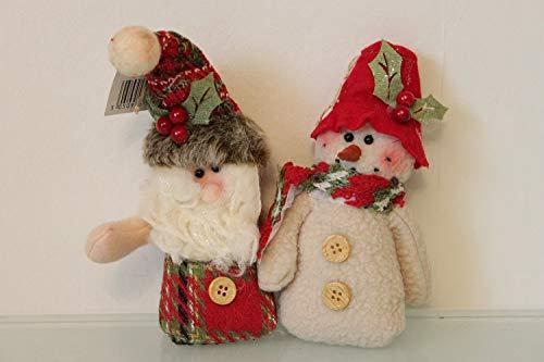 Santa & bonhomme de neige Festive Arbre à suspendre Chums 2 assortd Decoation – Nouveau pour 2015