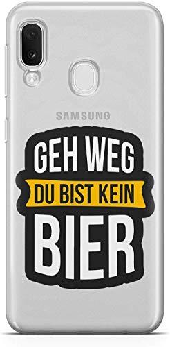 Finoo Vater- e Muttertagsserie Samsung Galaxy A20e Custodia Rigida - GEH Weg Du Bist Non Birra