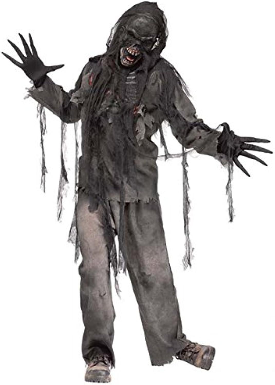 calidad oficial Hombre Halloween Halloween Halloween miedo quemado traje de Zombie  echa un vistazo a los más baratos