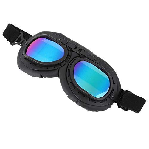 Mxzzand Gafas con Montura Negra Gafas al Aire Libre Antigolpes Elegante protección Ocular Iding Impermeable para(A124 Color Film-Black Frame)