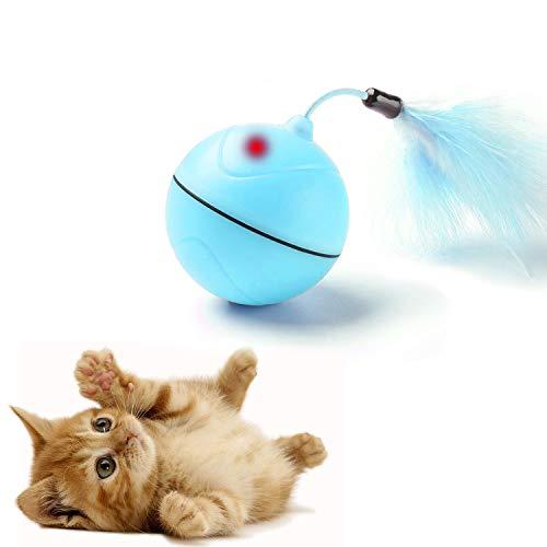 Jouets de Chat Chargé par USB Balle à Rouler Automatique avec Point de Lumière Rouge Jouet...