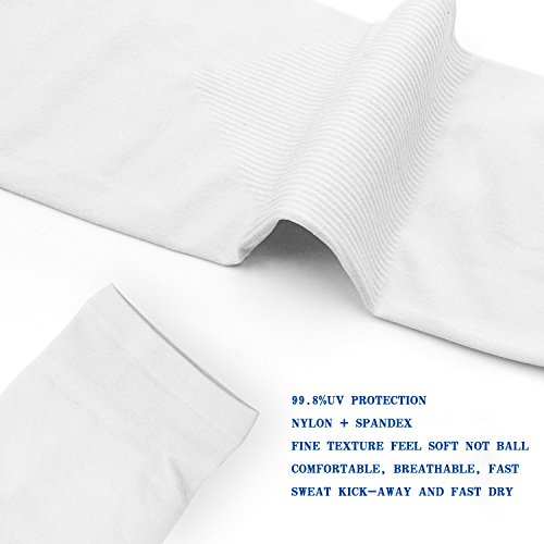 YINI Sonnenschutz Arm Sleeves Anti – UV Kühlung Multicolor Arm Ärmel für Fußball Angeln Radfahren Outdoor Aktivitäten für Frauen Männer Fingerless - 2