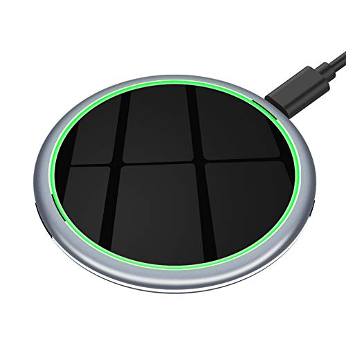 Yootech 15W Max. Premium Aluminium Wireless Charger Ladepad,kabellose qi Ladestation für iPhone 11/11 Pro/11 Pro Max/Xs MAX/XR/XS/X/8/8 Plus, Samsung Galaxy S20/Note10/Note9/S10/S9/S8/S9/,AirPods usw.