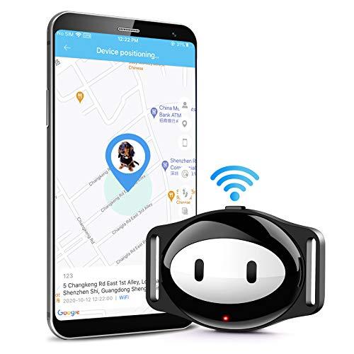 Autopmall Perseguidor de perro gato GPS Tracker collar impermeable IP68 5 días espera Geo-valla mini GPS Tracker voz llamada WiFi+LBS aplicación gratuita