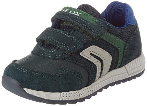 Geox Baby-Jungen B ALBEN Boy D Sneaker, (Green/Royal), 26 EU