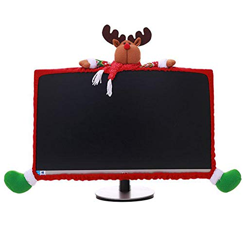 Orgrimmar Christmas Computer Monitor Cover for 19' - 27' Screen Dustproof Elastic Computer Cover TV Screen Protector for Home Mall Office Photography New Year
