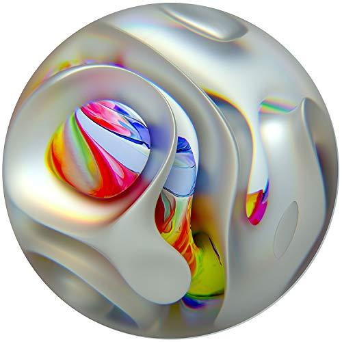 Startonight Cuadro sobre Vidrio - Globo del Arco Iris Decoración Redonda -...