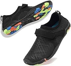 Boys & Girls Water Shoes Lightweight Comfort Sole Easy Walking Athletic Slip on Aqua Sock(Toddler/Little Kid/Big Kid) DKSX-M.Black-37