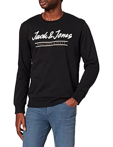 JACK & JONES JJHERRO Sweat Crew Neck Maillot de survtement, Noir, L Homme