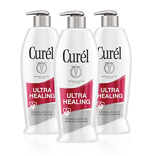 Curél Ultra Healing Body Lotion, Moisturizer for Extra Dry Skin, Body and Hand Lotion with Advanced Ceramide Complex and Hydrating Agents, for Tight Skin, 20 Ounces