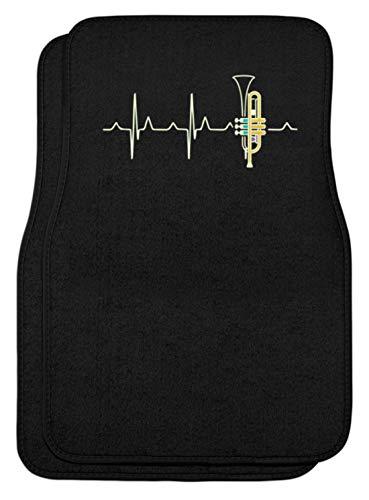 SPIRITSHIRTSHOP hartslag, trompet, hart, muziek, instrument, muziekinstrument, trompetspeler, spelen - automatten