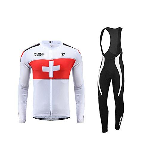 UGLY FROG Uglyfrog Veste Cycliste Homme Noir et Maillot Cyclisme Manches Longues Ultra-léger et Respirant Cycling Jersey Z02