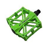 ACHICOO - Pedal de Bicicleta MTB de aleación de Aluminio Ligero para Bicicleta de montaña, Bicicleta de Carretera, Piezas de Repuesto para Productos al Aire Libre, Color Verde, tamaño Special Size