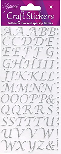 Eleganza Oaktree Crafts Stilisiertes Alphabet-Set, Silber Nr. 66 Alphabet-Set Silber