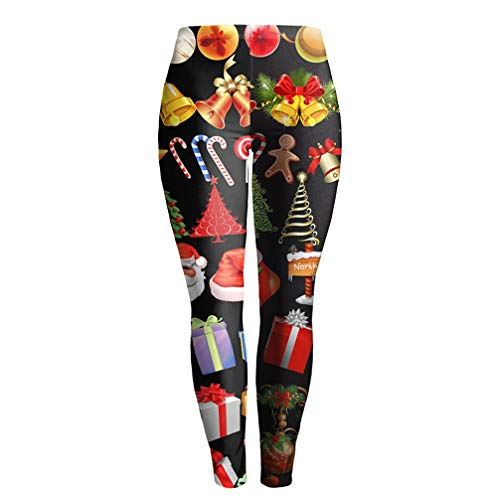 Q.TTRD Frauen Mode Legging Druck Leggins schlanke Leggings Frauen Hose L