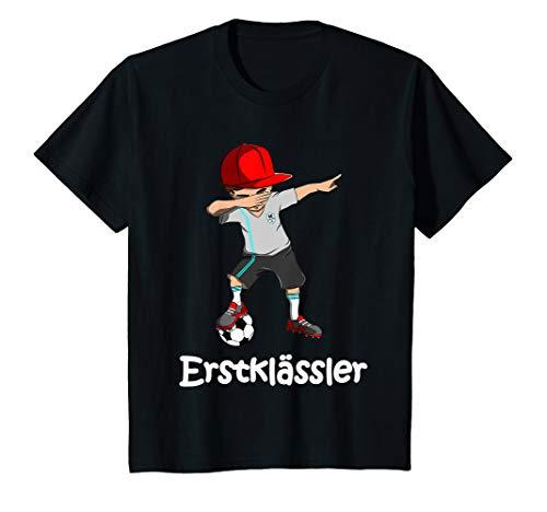 Kinder Fußball Einschulung Jungen Schulkind Aufstieg Erstklässler T-Shirt