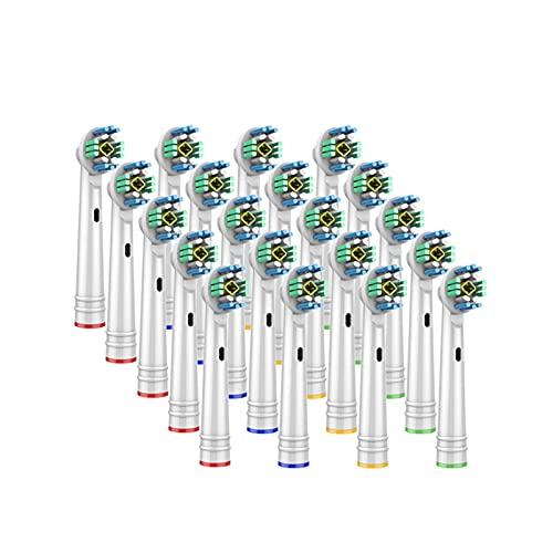 HANLILI kasu Teste di spazzolatura di Ricambio 20pcs Adatta for l'orlal B Spazzolino Elettrico B Prima della sanità di Power PRO Health 3D Excel Pulito di precisione vitalità