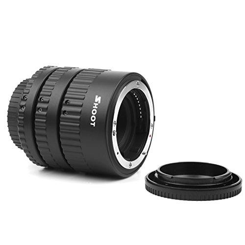 Shoot - Juego de Tubos de extensión Macro para cámaras Nikon DSLR D7100 D7000 D5500 D5300 D5200 D5100 D5000 D3300 D3100 D3000 D810 D800 D600 D300s D300 D90 D80 (12 mm, 20 mm, 36 mm)