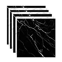 フロアシート 大理石床 リメイク シート 10枚入り 防水シート フロアタイル フローリング 床デコ 接着剤不要 床材 貼るだけフロアタイル DIY リフォーム 北欧 インテリア 雑貨 おしゃれ 賃貸 (白5枚・黒5枚)