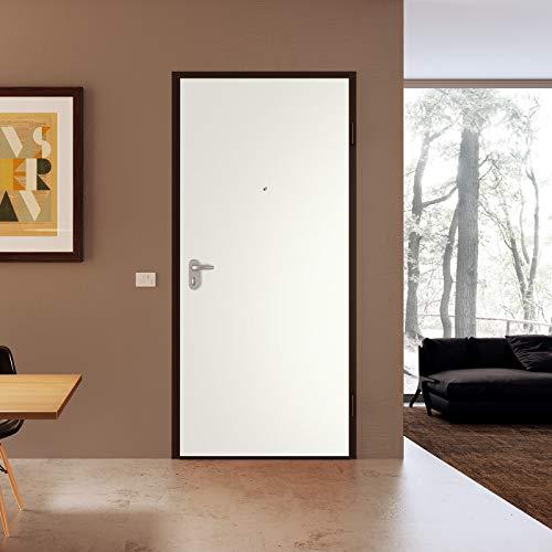 Porta blindata ingresso Argo 900x2100 sx colore Tanganika/Bianco Di.Bi. Porte Blindate srl